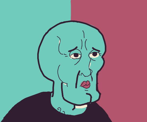 handsome squidwards head
