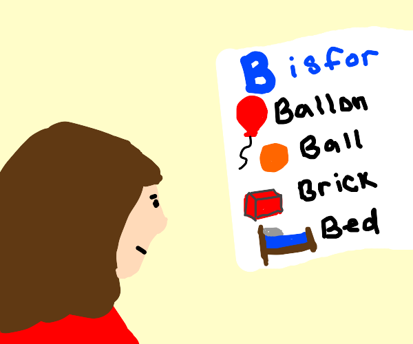 learning letters that start with b