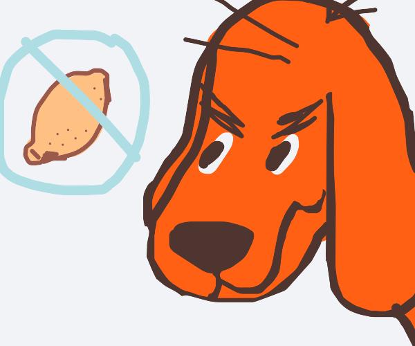 Clifford the big red dog hates lemons
