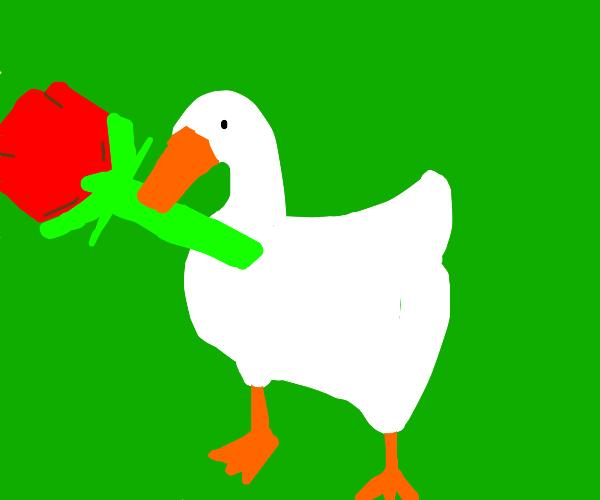 That flippin' goose