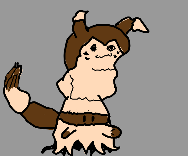 Mimikyu but its disguised as a better pokemon