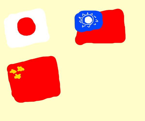 asian flags around im a proud asian