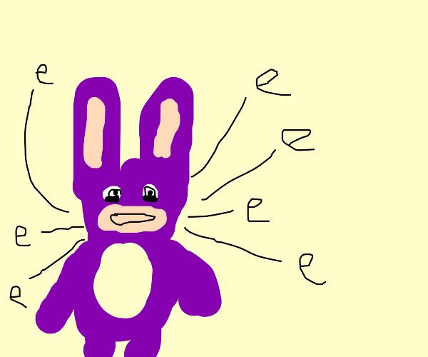 purple rabbid says e multiple times