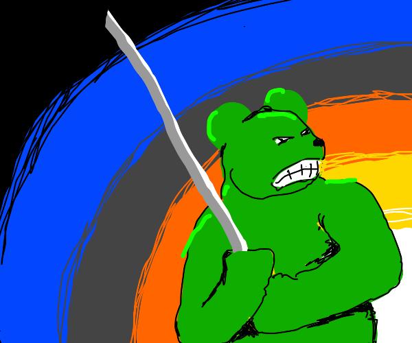 Green Samurai Teddy Bear