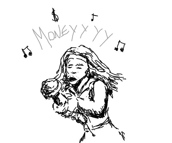 Girl sings about money