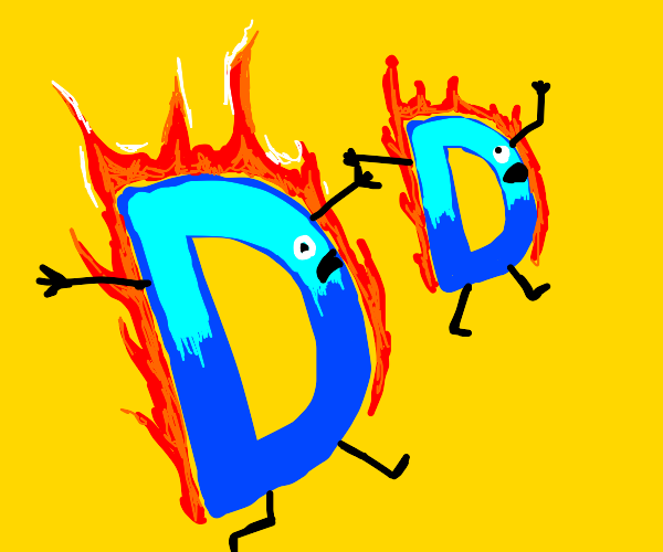 Two Drawception Ds On Fire