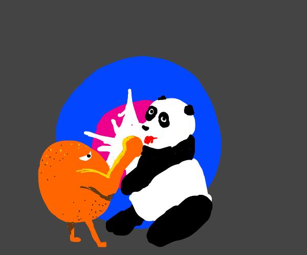 orange beats panda