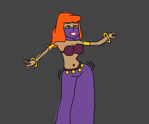Judy Jetson as a belly dancer.