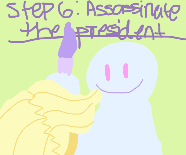 Step 5 Turn around and meet the President