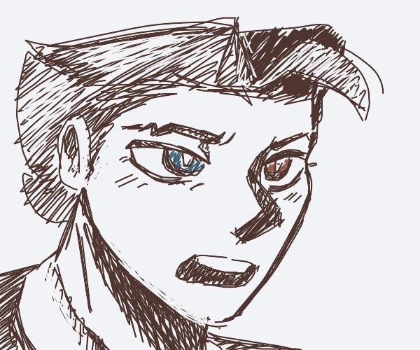 Phoenix Wright with heterochromia