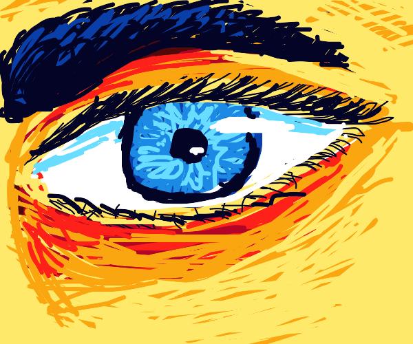 very original closeup of an eye