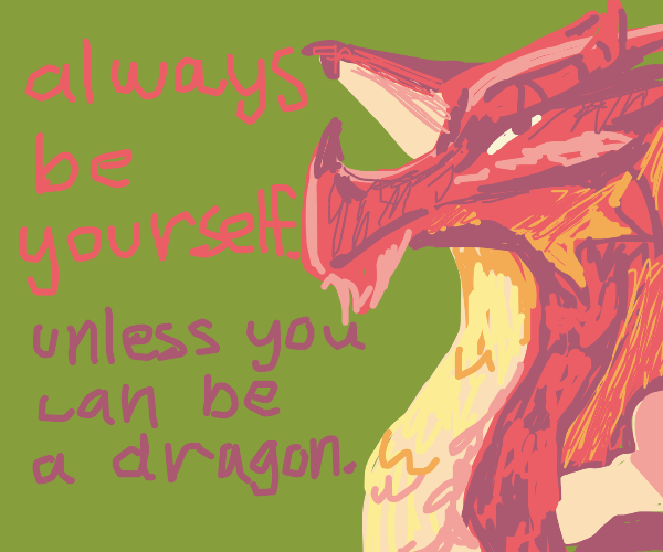 Inspirational dragon