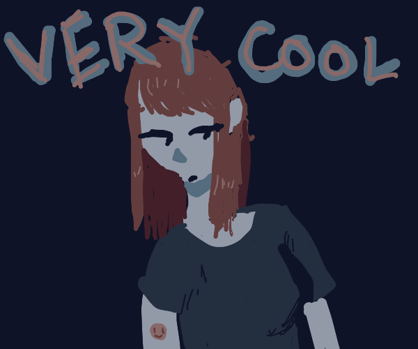 Cool lady with emoji tattoo