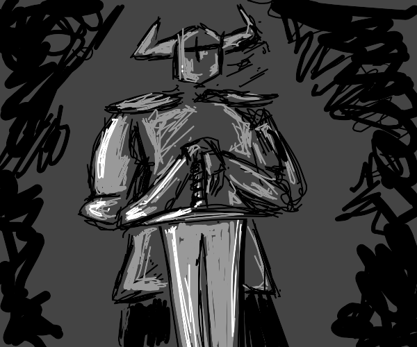 Knight with giant sword