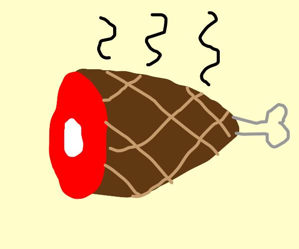Smoking ham