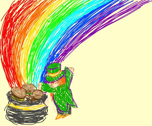 Leprechaun finds pot of burgers at rainbow