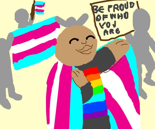 Trans pride parade