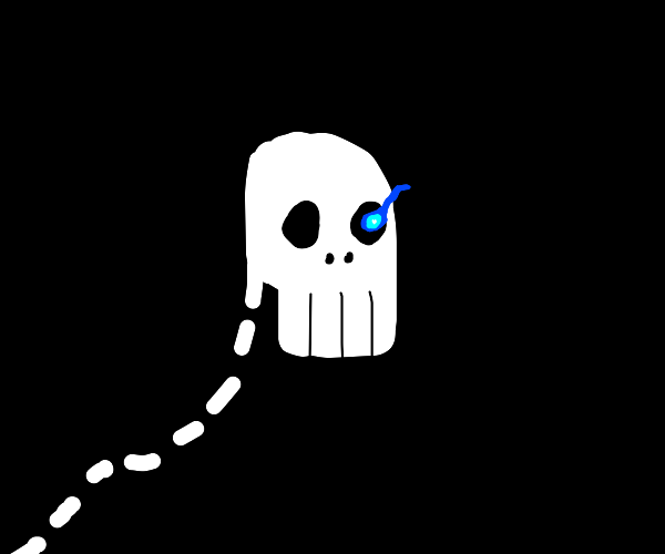 blue eyed skeleton guy from a hit indie game