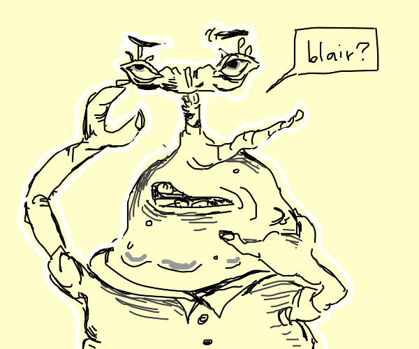 Moar Krabs doesn't know who Blair is