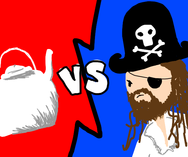 Teapot vs pirate