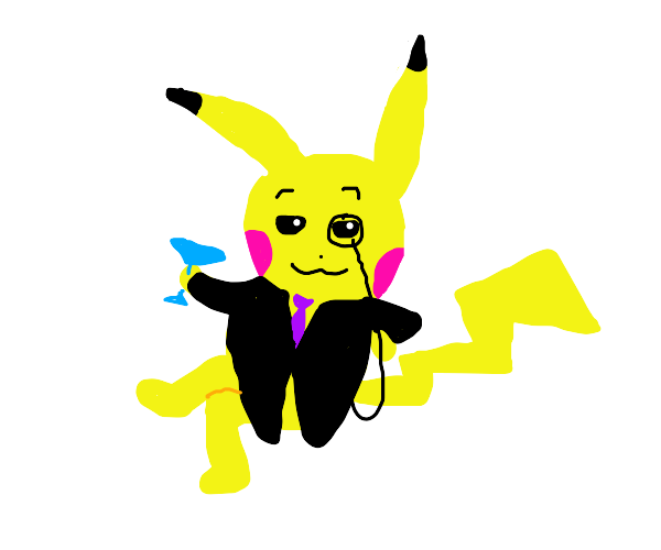 very fancy pikachu