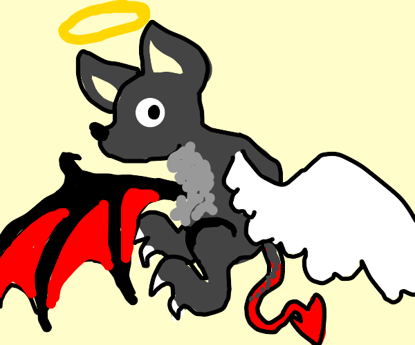 Angel devil-bat with claws.