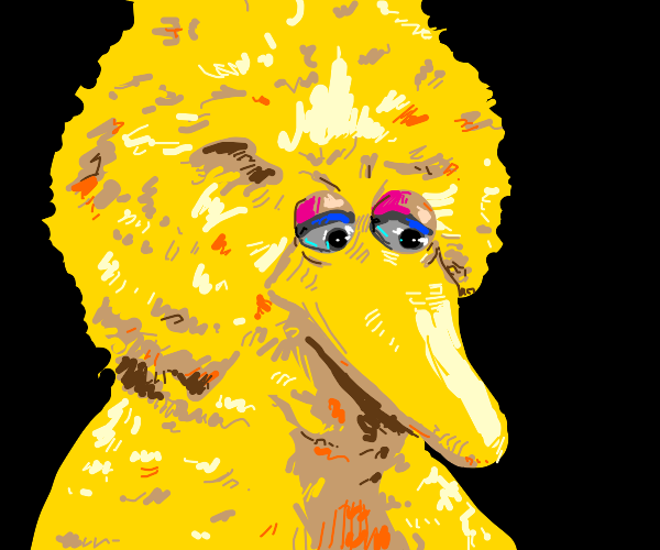 disappointed Big Bird