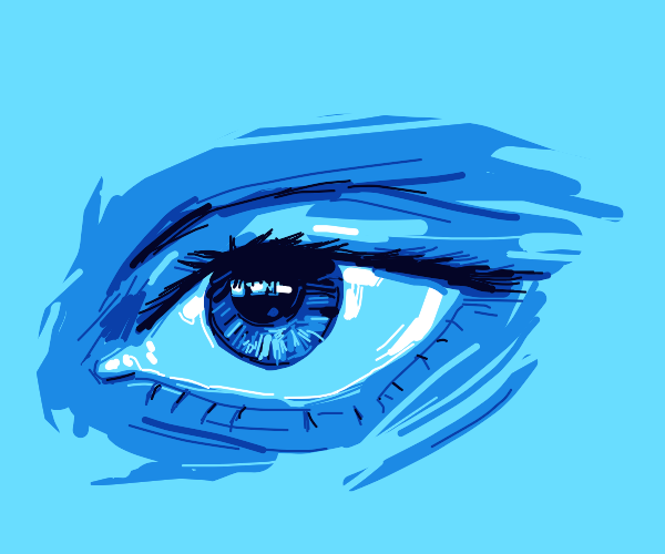 Beautiful drawing of a blue eye