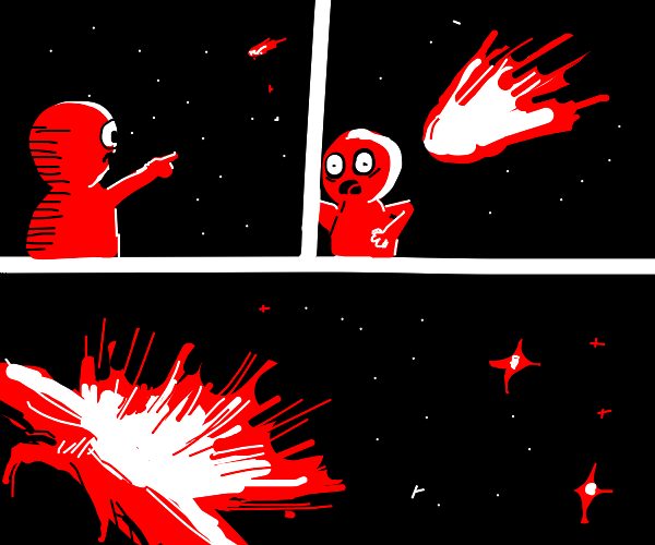 meteor fatally hits man in head
