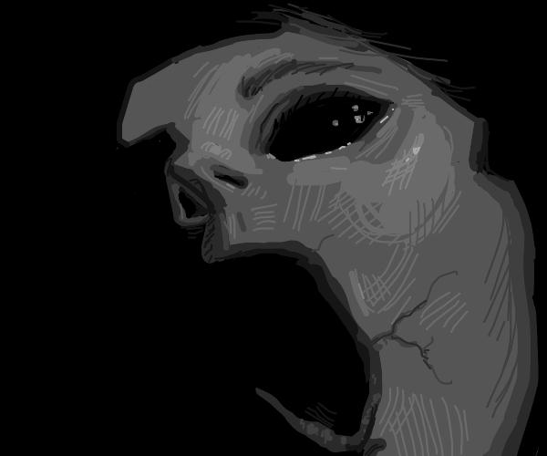 Broken screaming ghostly mask