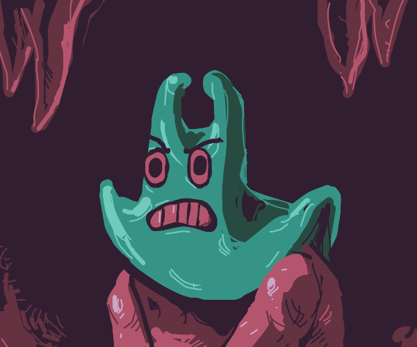 the evil thing from squarepants