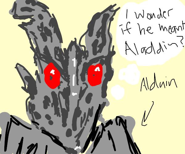 Alduin ponders life deeply