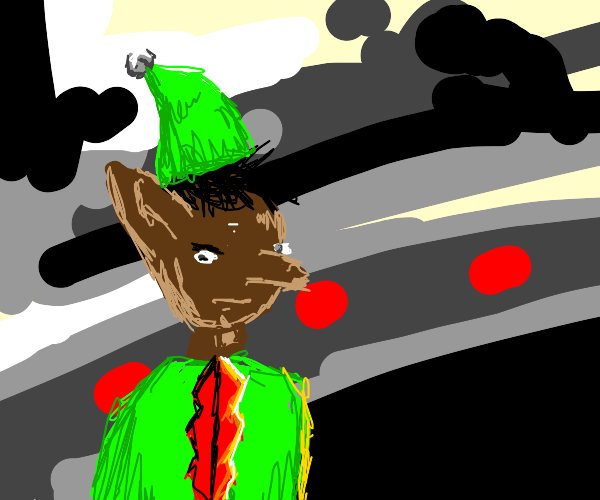 Black Elf in Santa's Workshop