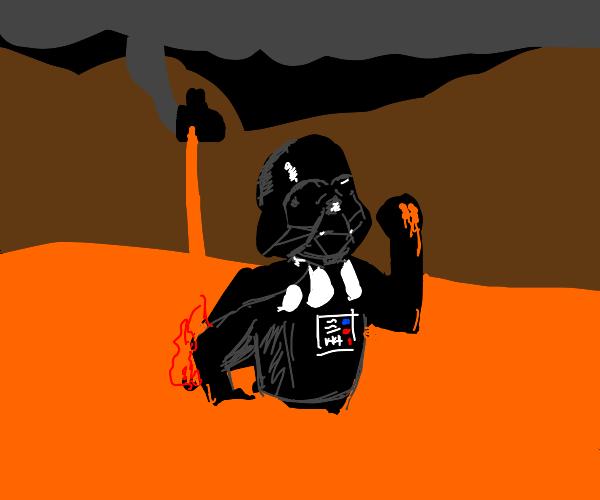guy running through lava