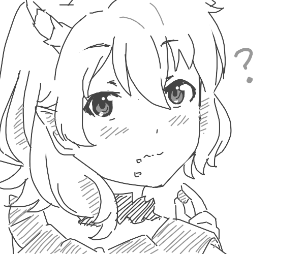 Adorable anime demon waifu UwU