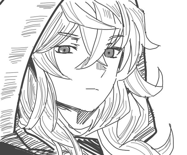 Long haired anime boy
