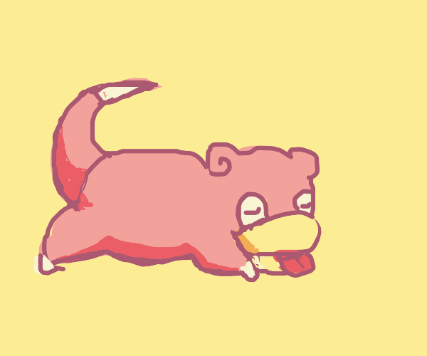 a lazy slowpoke (pokemon)