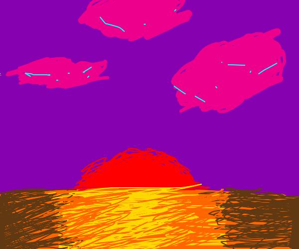 Horizon as seen from a non-earth planet.