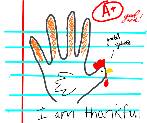 hand-traced turkey