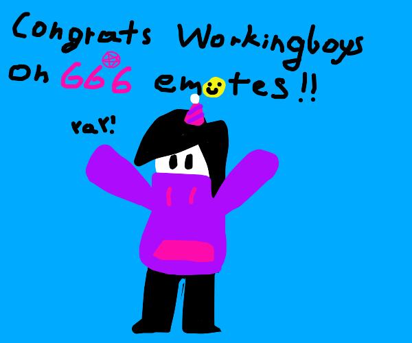 Woo workingboys has 666 emotes!!