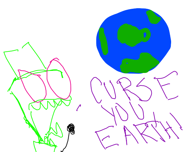 alien yelling at earth