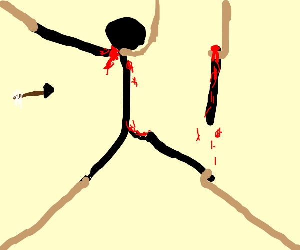 mans gets brutally torn apart, limb by limb
