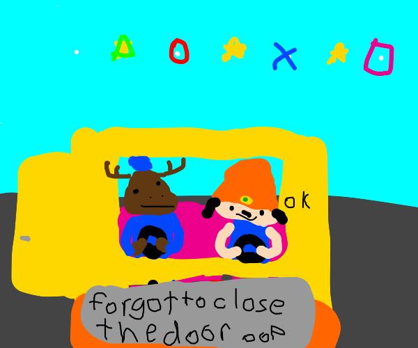 Parappa the Rapper car rap