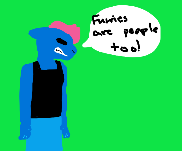 Angry furry saying that furries are people to