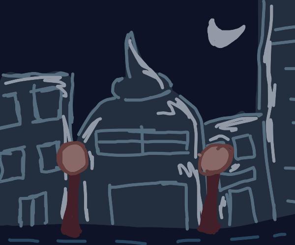 city in nighttime