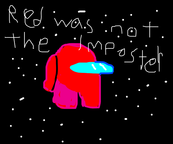 The red astronaut in space (so fine!!)