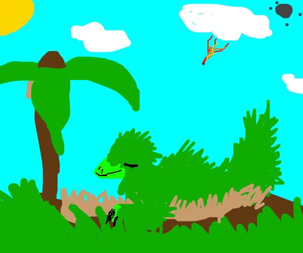 small green dinosaur