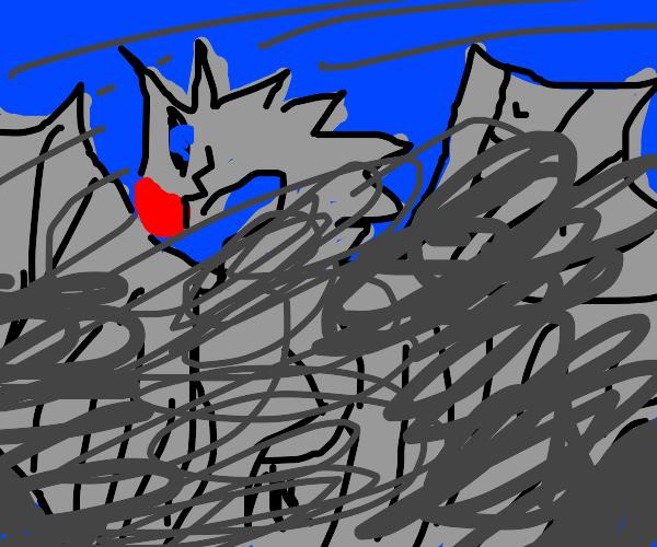 monster inside of a tornado