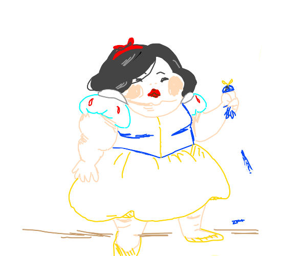 obese snow white