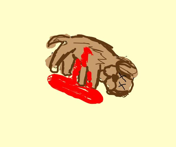 oh no dead puppy